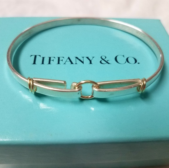 0084dff5f Vintage Tiffany & Co 925/18k Gold Hook Bracelet. M_5b2945067386bc01b01a77c2